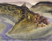 The Old Orhey valley, watercolour