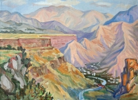 Gorge Deseg. Oil, canvas