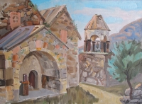 Ardvi monastery. Oil, canvas
