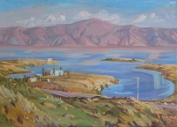 Sunshine-on-Small-Sevan.Oil-canvas