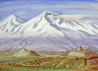 The-Holy-Ararat. Watercolor