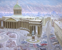 Twilight at the Kazan Cathedral
