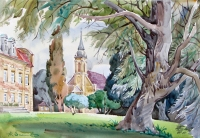 Castle Ivenak, watercolour